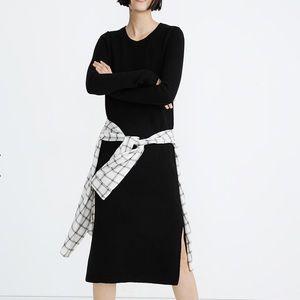 Madewell midi black sweater dress- xs